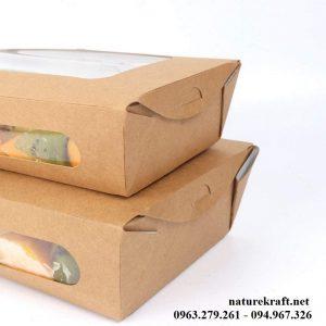hộp đựng đồ ăn nhanh kraft