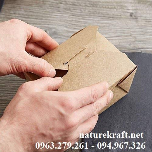 hộp giấy kraft đựng đồ ăn
