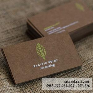 card visit giấy kraft